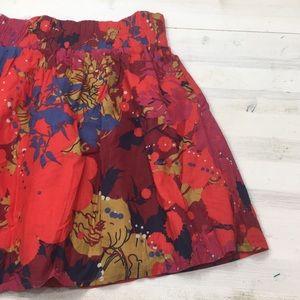 Emmelee for F.C. floral gather waist mini skirt